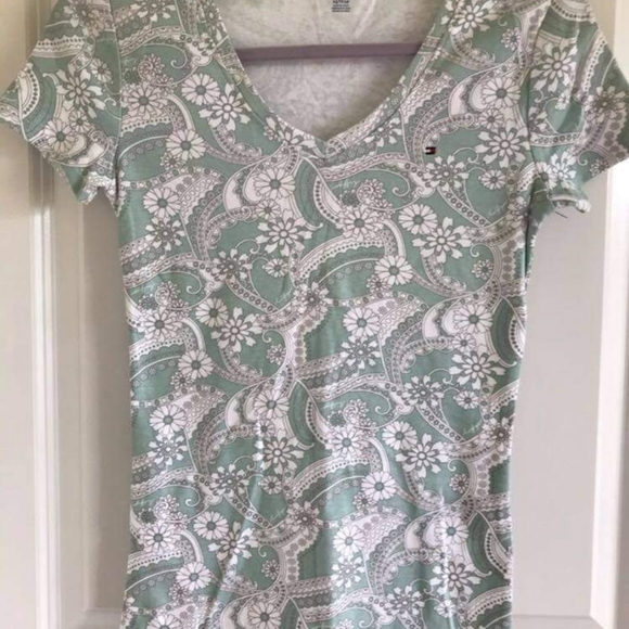 women's blouse TOMMY HILFIGER print size xs